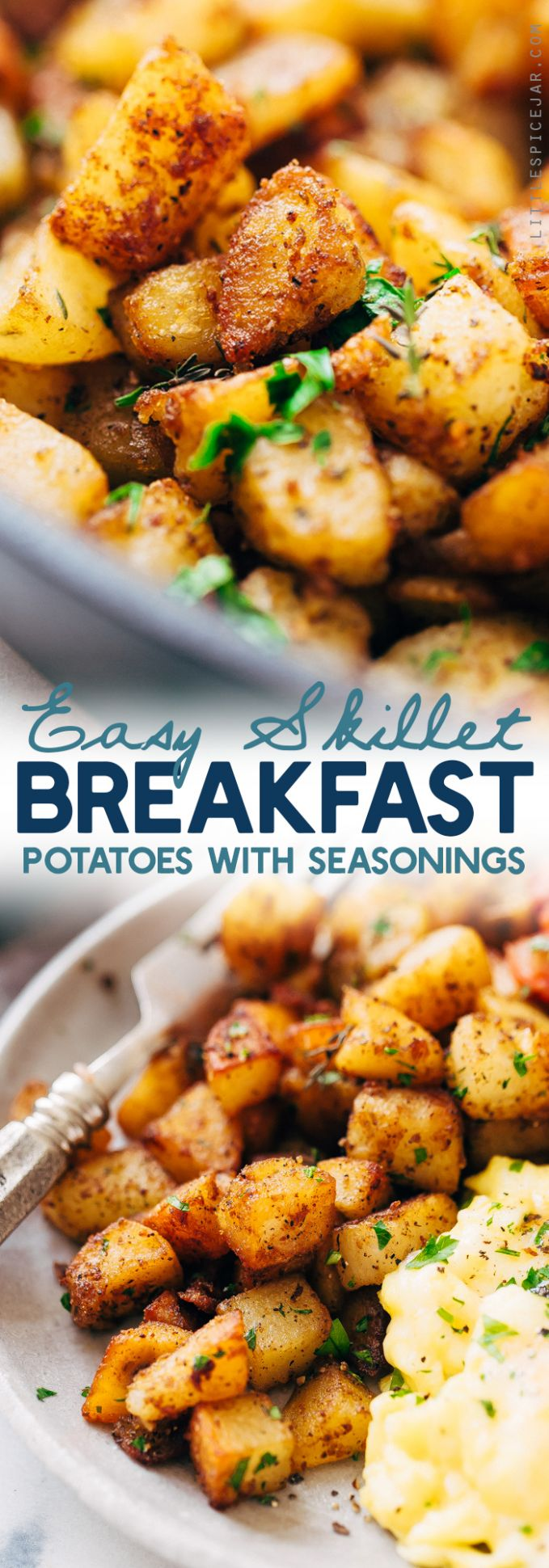 Easy Skillet Breakfast Potatoes - Breakfast Recipes Potatoes