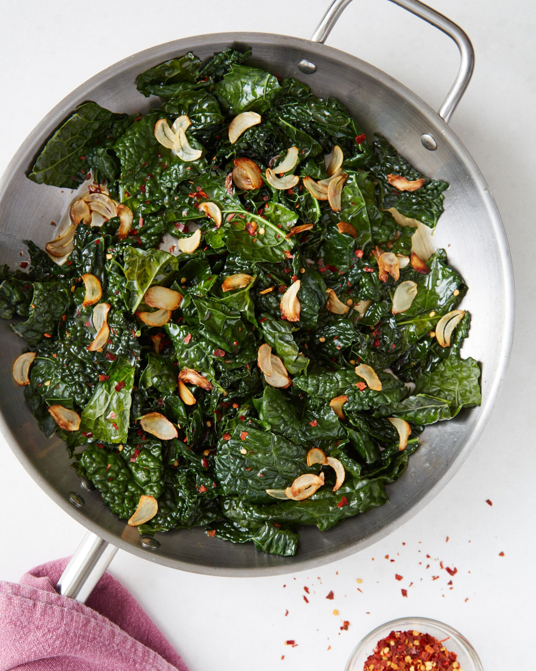 Easy Skillet Kale with Lemon & Garlic