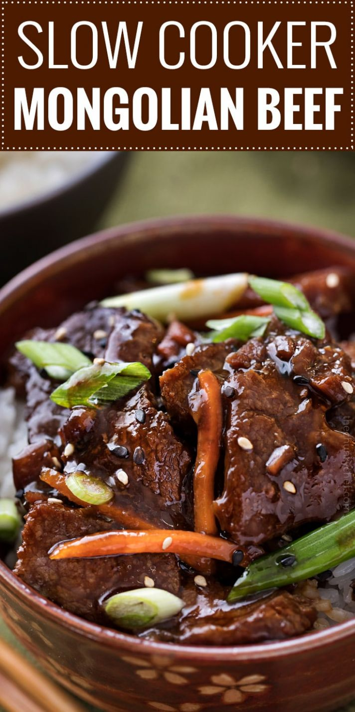 Easy Slow Cooker Mongolian Beef Recipe - The Chunky Chef