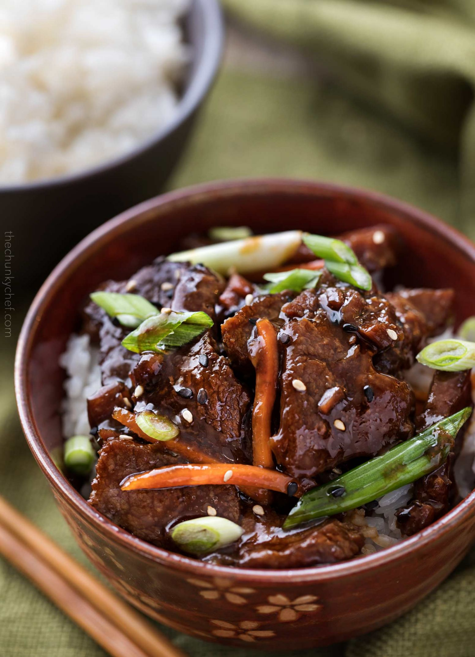 Easy Slow Cooker Mongolian Beef Recipe - The Chunky Chef - Recipes Beef In Crock Pot