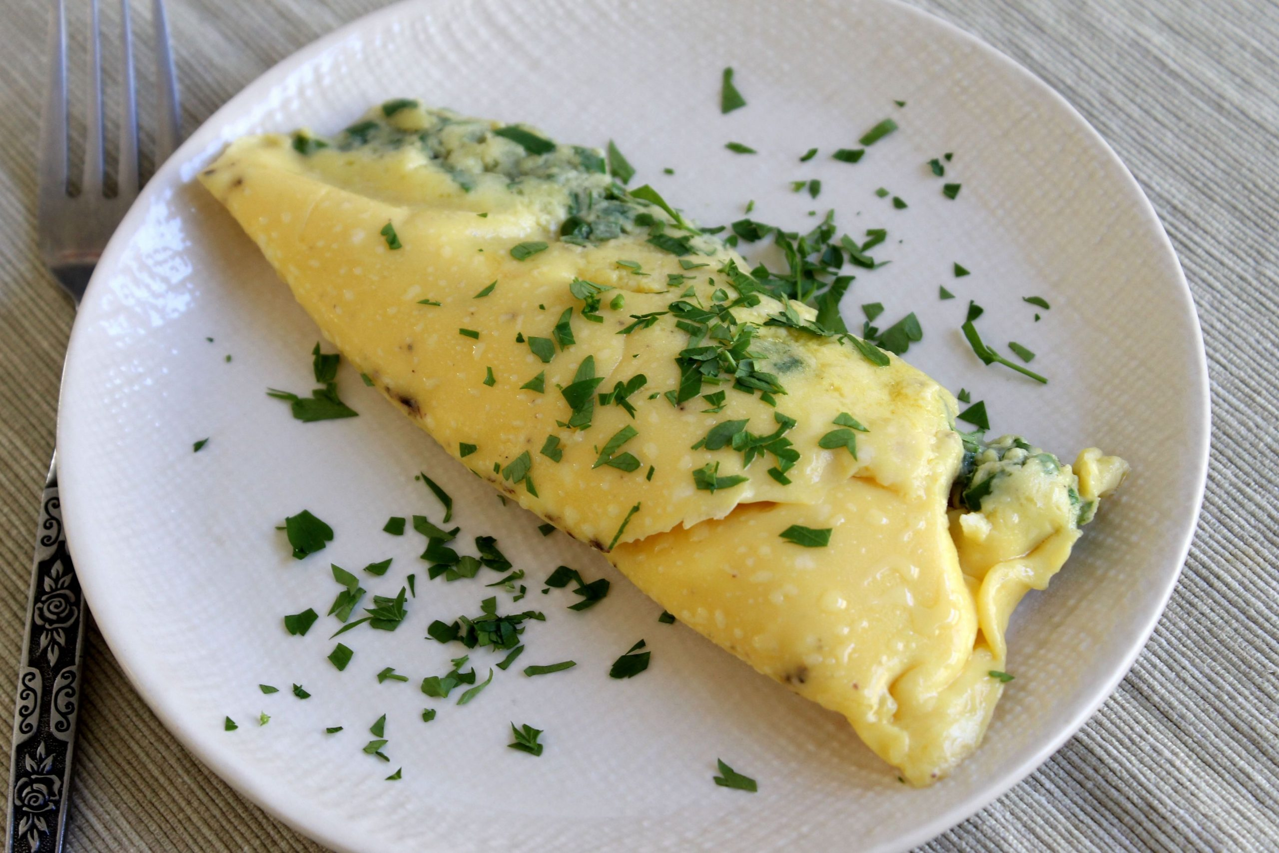 Easy Sous Vide Omelet with Parmesan and Herbs