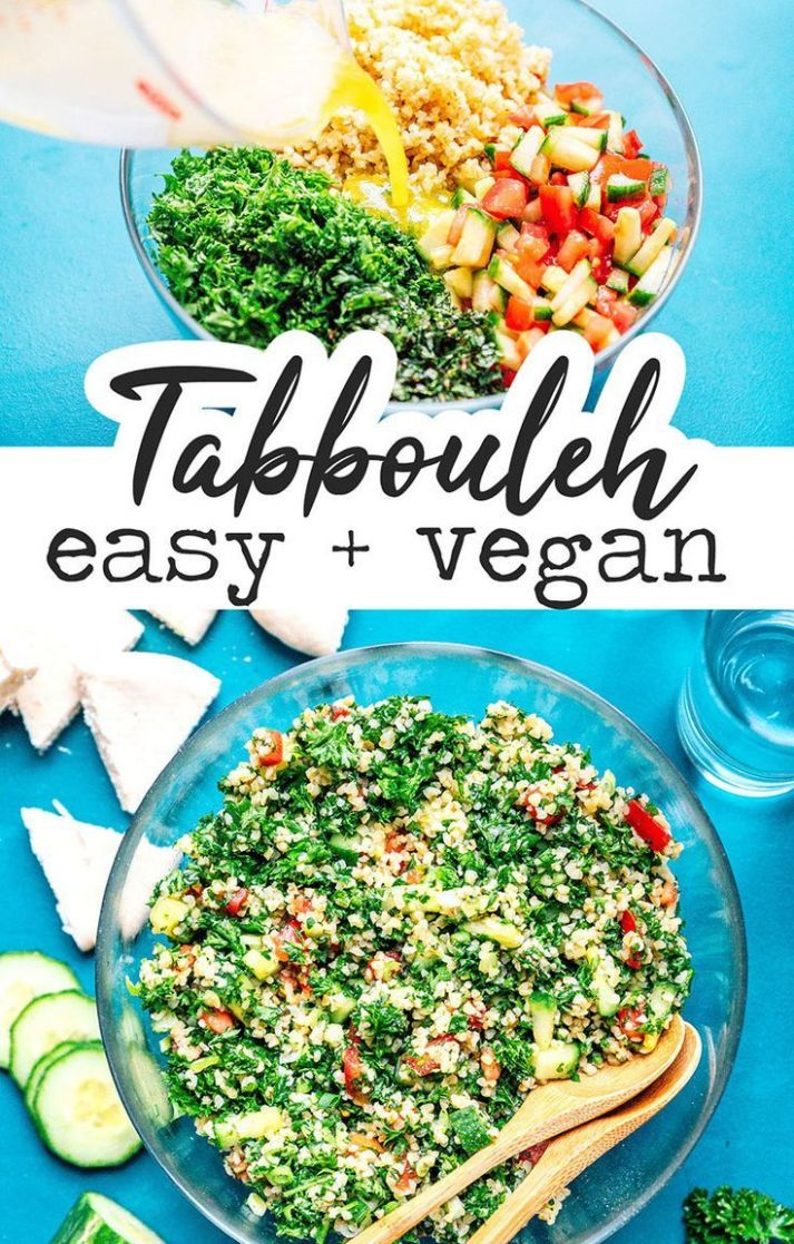 Easy Tabbouleh Salad - Salad Recipes Veg For Dinner