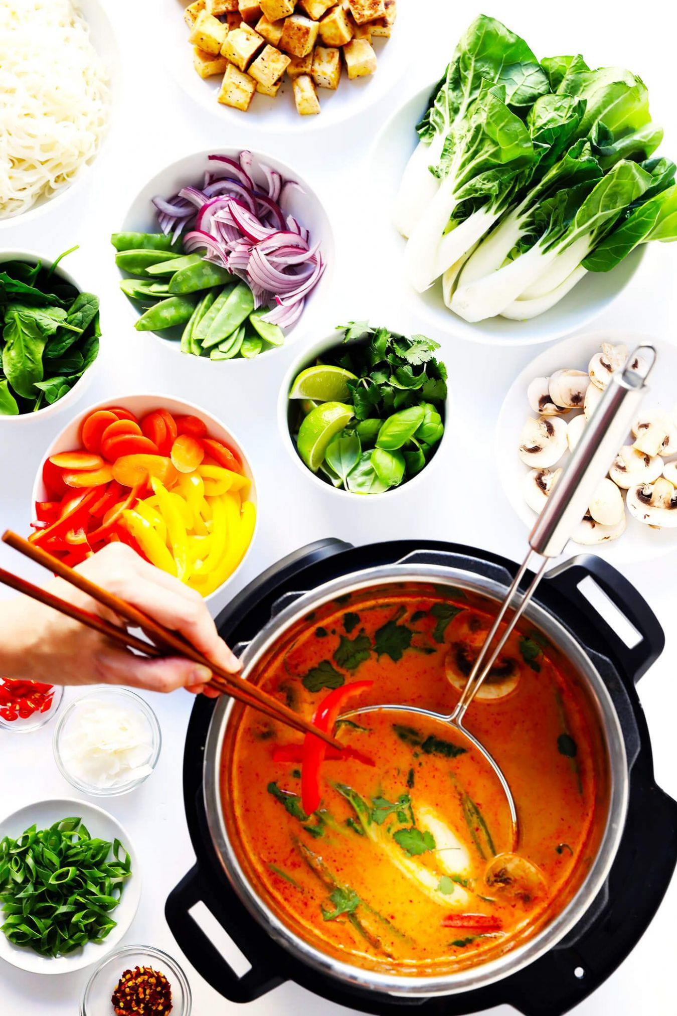 Easy Thai Curry Hot Pot - Vegetarian Recipes You Can Add Meat To