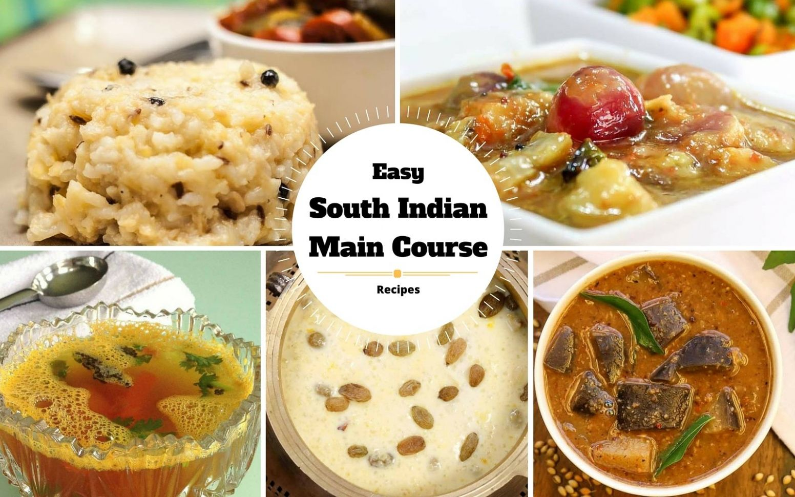 Easy To Make South Indian Main Course Recipes for Beginners by ..