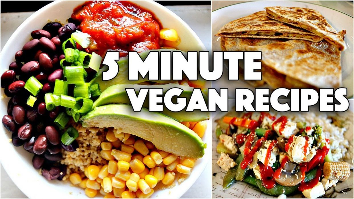 EASY VEGAN 9 MINUTE RECIPES // FOR COLLEGE STUDENTS - Easy Recipes College