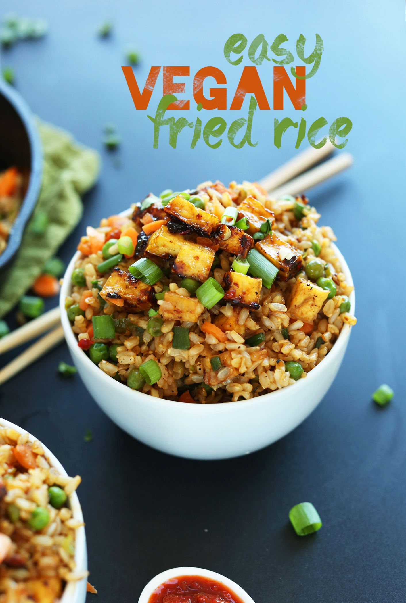 Easy Vegan Fried Rice - Vegetarian Recipes Asian