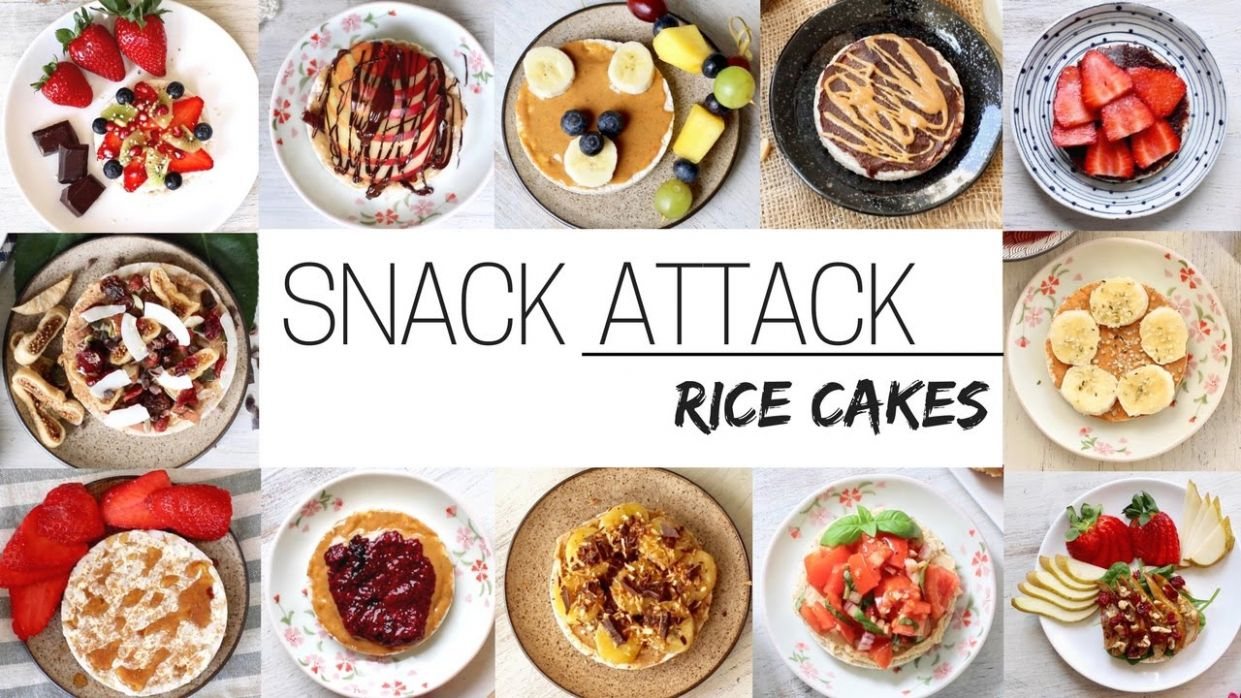 EASY VEGAN SNACKS » for after school & work (rice cakes part 10) - Recipes Rice Cakes