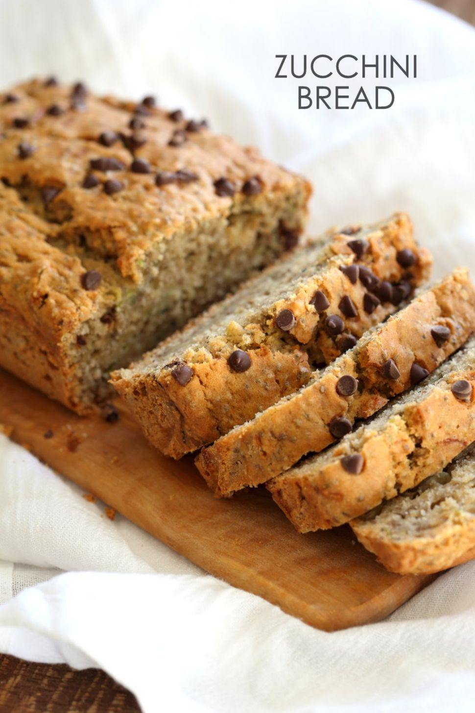 Easy Vegan Zucchini Bread with Chia Seeds