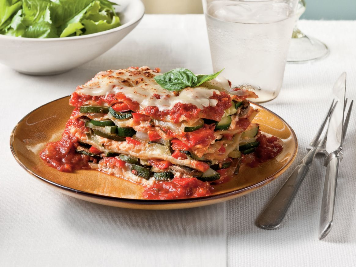 Easy Vegetable Lasagna Recipe | Southern Living - Simple Recipes Vegetarian Lasagna