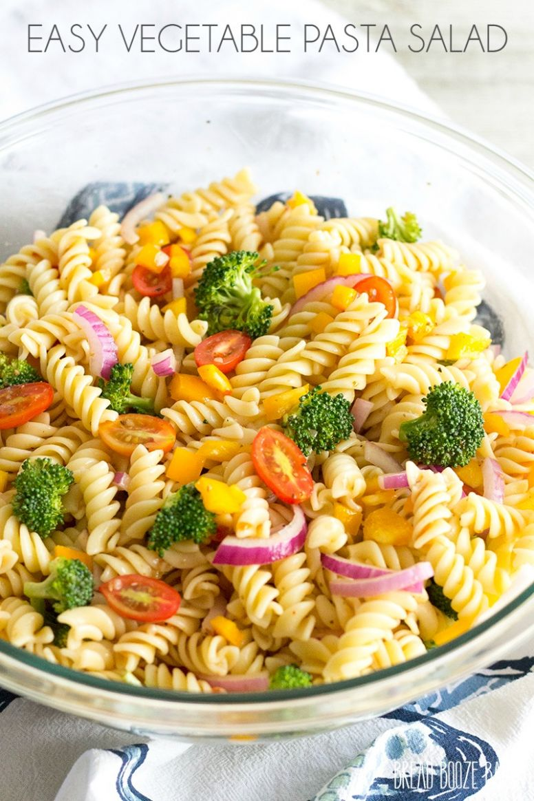 Easy Vegetable Pasta Salad - Recipes Vegetable Pasta