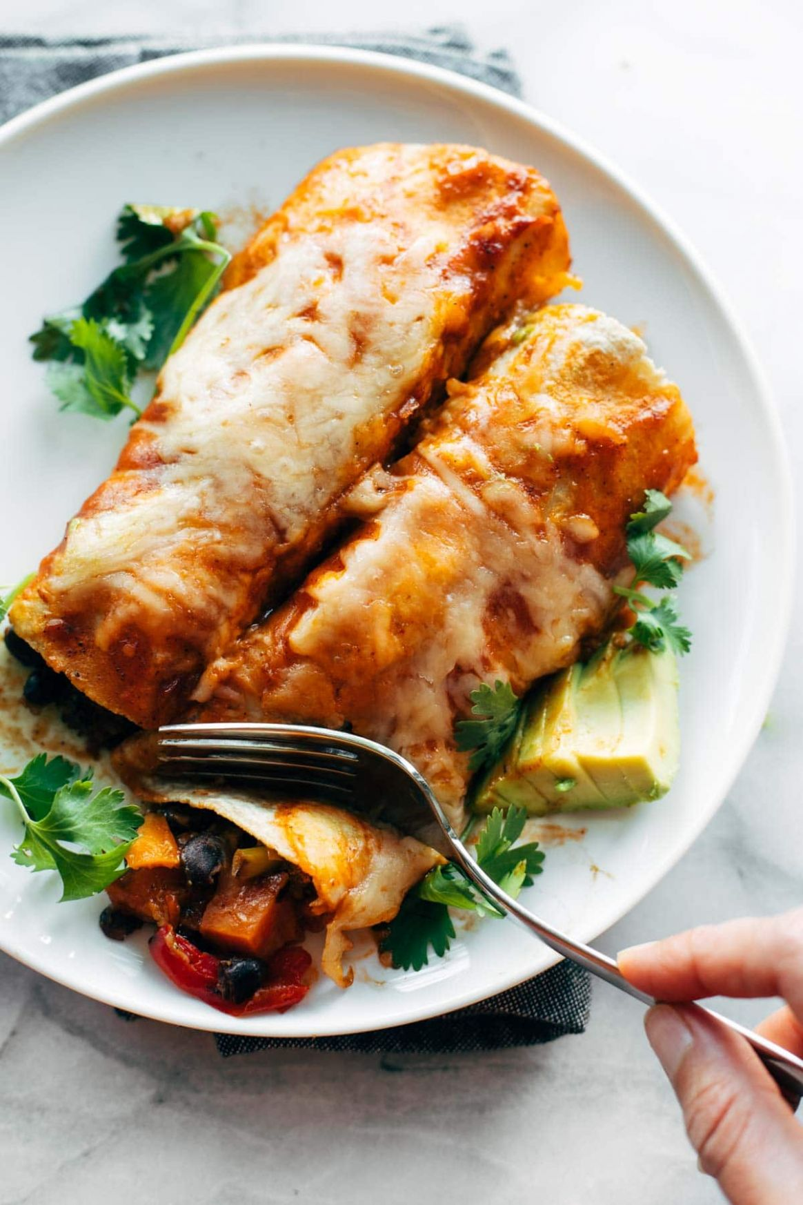 Easy Veggie Enchiladas - Recipes Vegetarian Easy