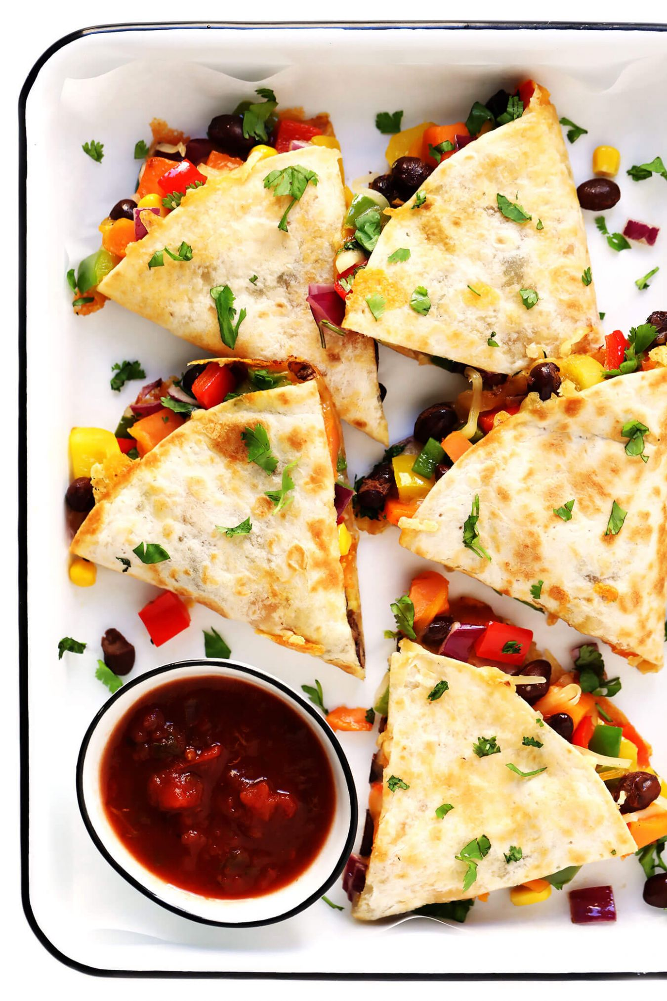 Easy Veggie Quesadillas - Vegetarian Recipes You Can Add Meat To
