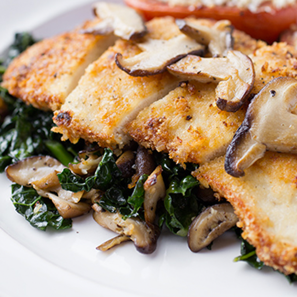 Eat to Beat: Sauteed Chicken Breast with Kale and Wild Mushrooms