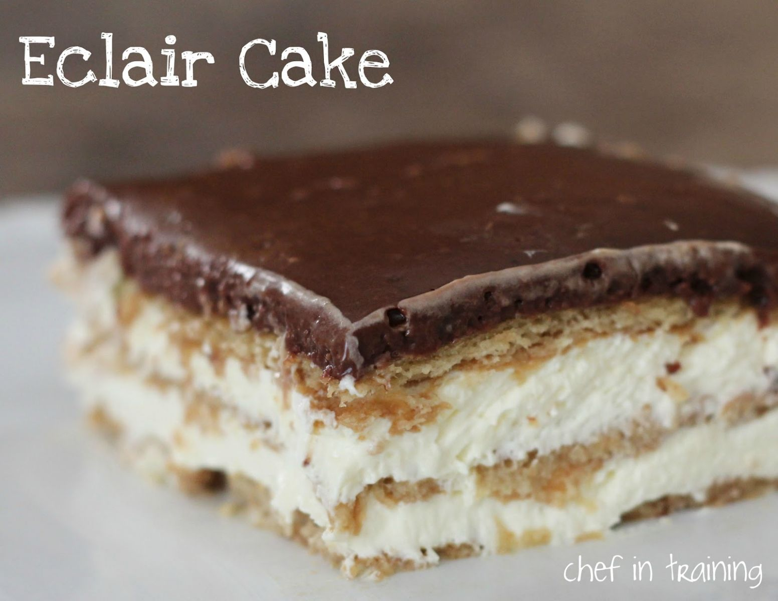 Eclair Cake - Recipe Chocolate Eclair Cake