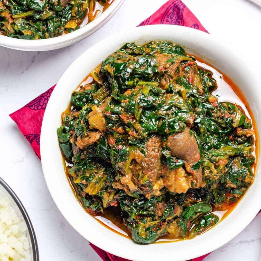 Efo riro - Nigerian Spinach Stew - Recipes Nigerian Vegetable Soup