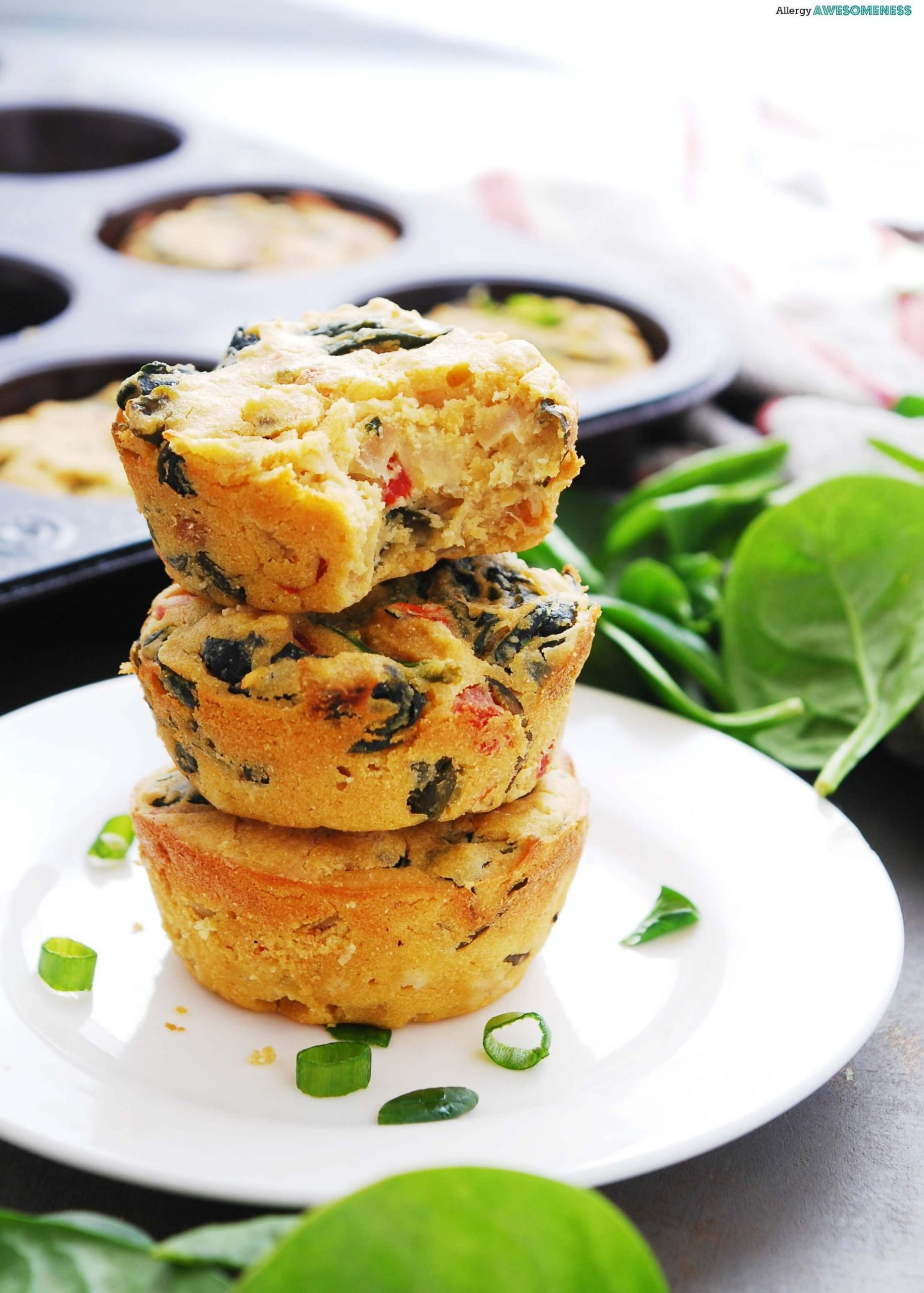 Egg-free & Dairy-free Frittata Cups | Allergy Awesomeness - Recipes Egg Free