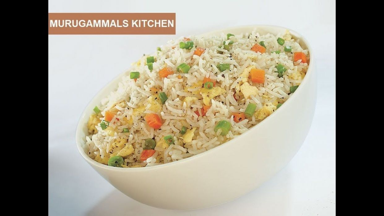 Egg Fried Rice Recipe in Tamil   Yummy Tummy Fried Rice ...