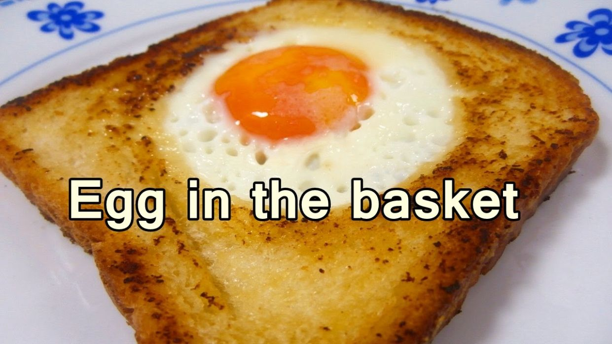 EGG IN THE BASKET - Tasty and easy food recipes for beginners to make at  home - Cooking videos - Easy Recipes For Beginners