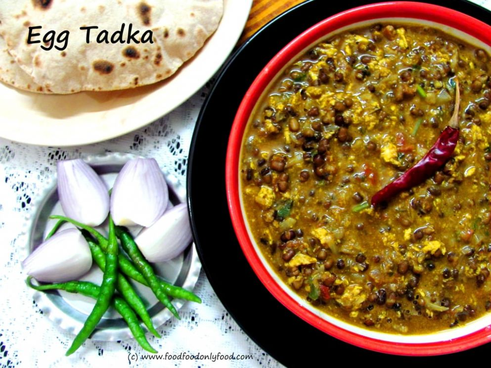 Egg Tadka (Whole Black Gram with Egg) – Delicious Addiction - Recipe Egg Tadka