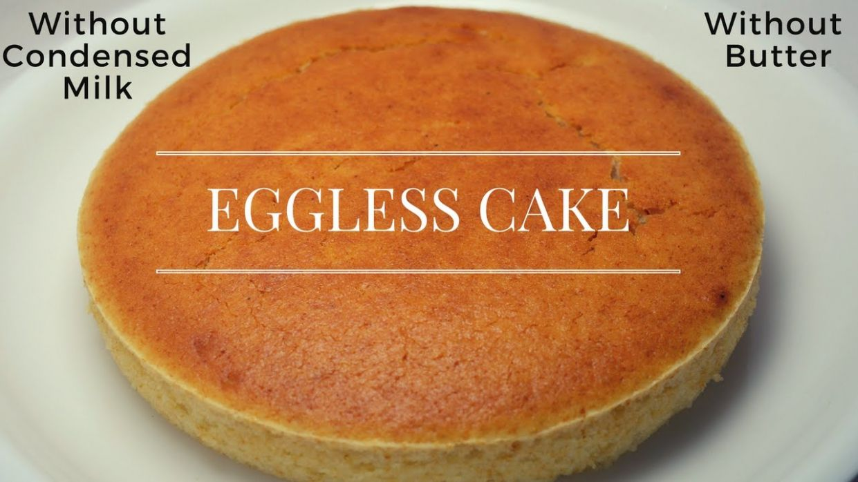 Eggless Cake without Condensed Milk and Butter | Eggless Vanilla Sponge  Cake | Urban Rasoi