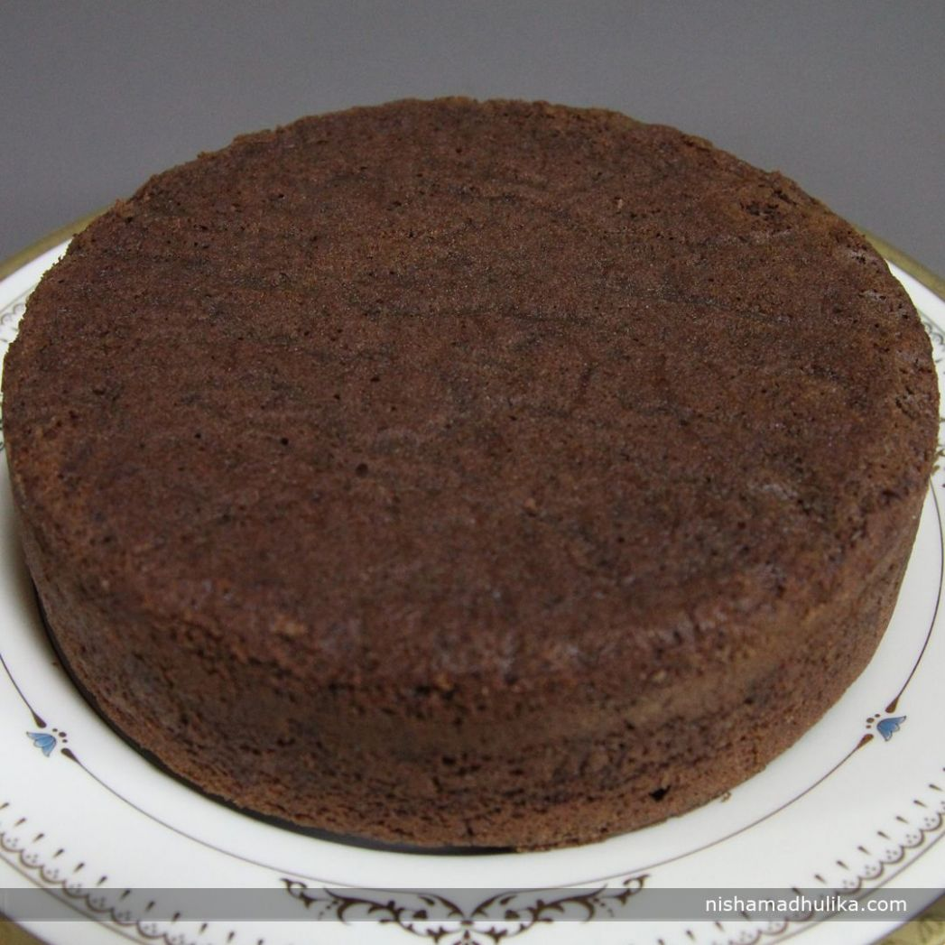 Eggless Chocolate sponge cake taste really yummy. The taste of ...