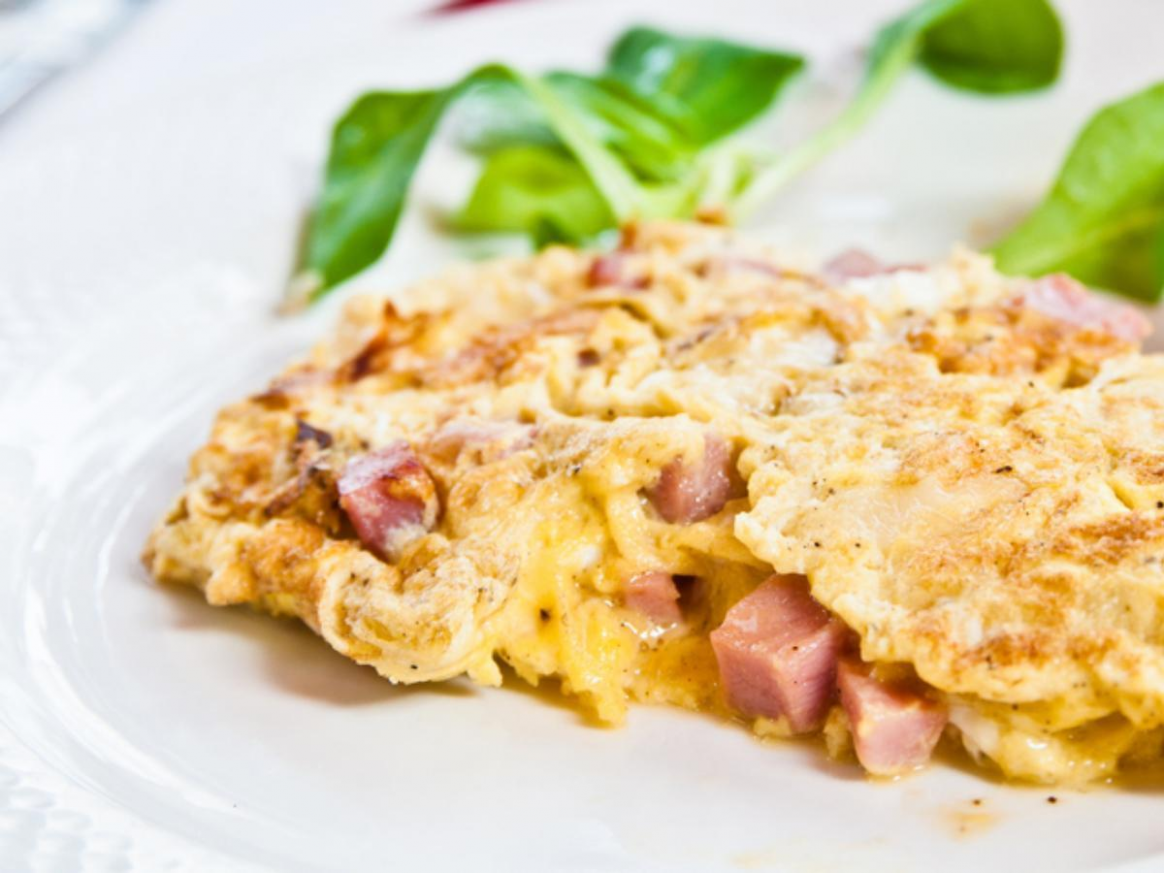 Eggs, Cheese, Turkey Sausage Omelet