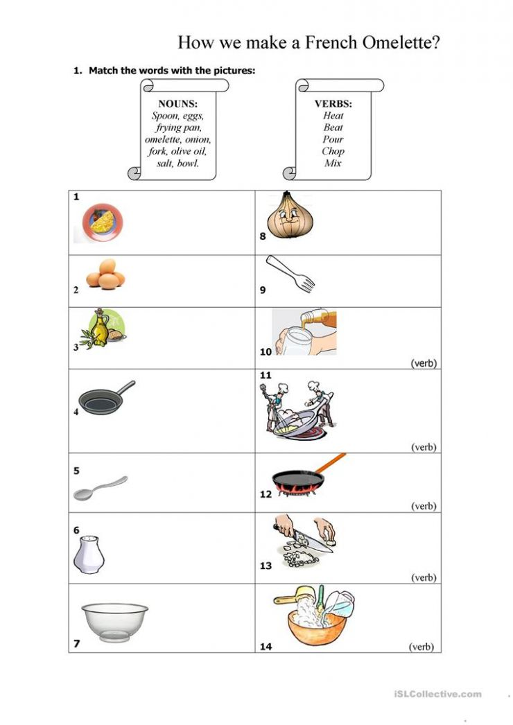 English ESL recipe worksheets - Most downloaded (12 Results)