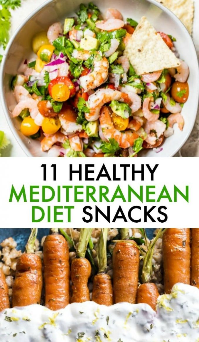 Enjoy one or all of these HEALTHY Mediterranean Diet Snack recip ..