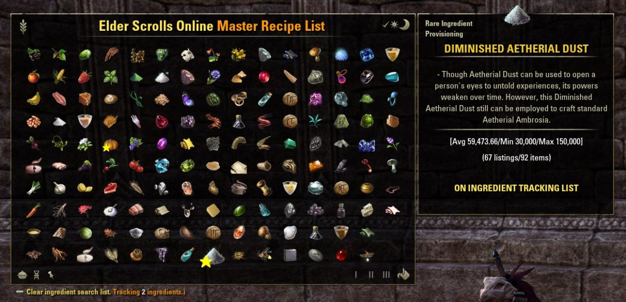 ESO Master Recipe List : TradeSkill Mods : Elder Scrolls Online AddOns - Cooking Recipes Eso
