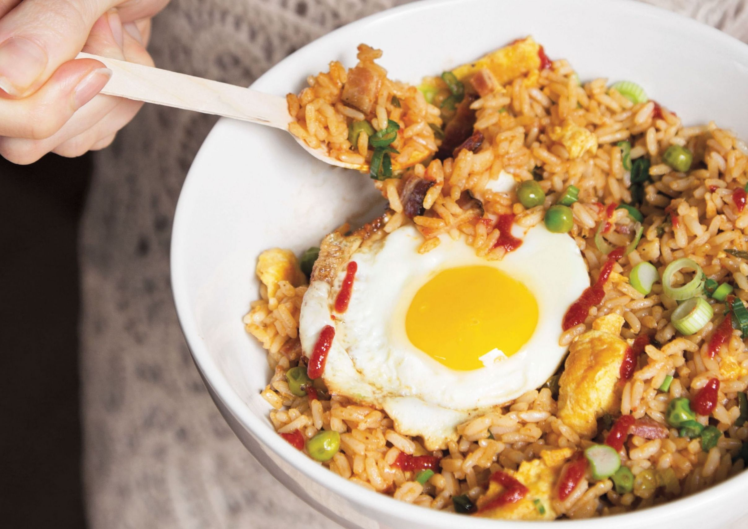 Extra-Egg-and-Bacon Fried Rice - Recipes Egg And Rice