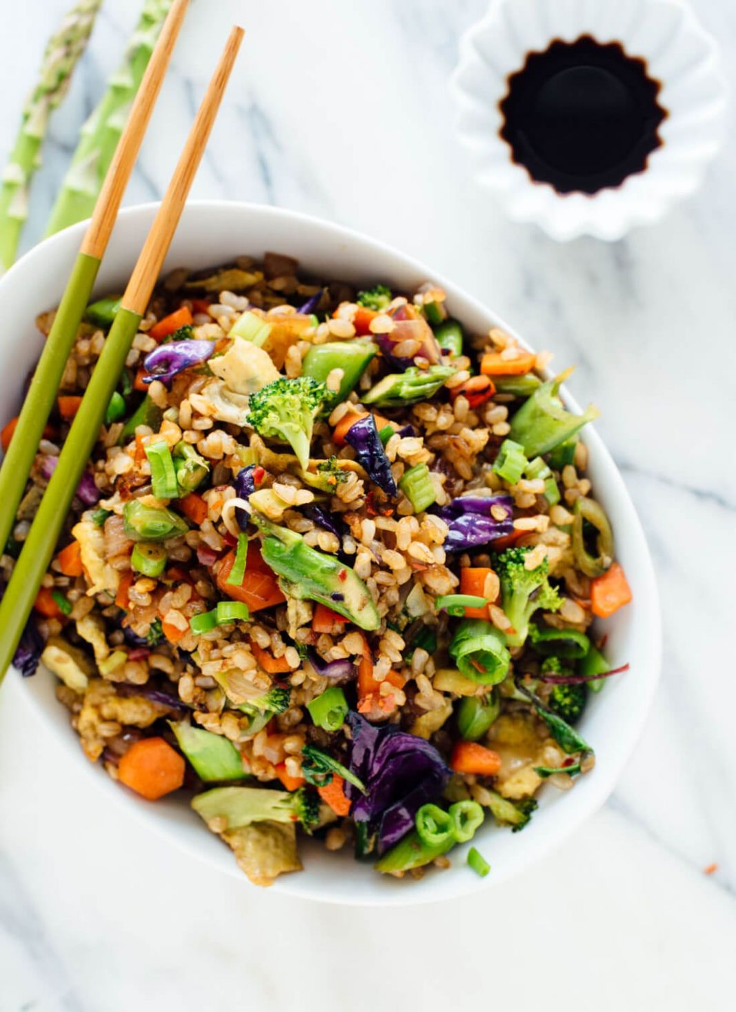 Extra Vegetable Fried Rice - Vegetarian Recipes You Can Add Meat To
