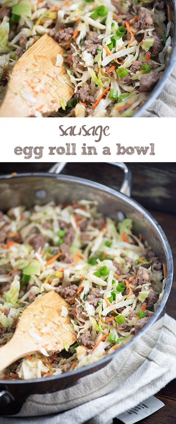Fast Asian Inspired Sausage Egg Roll In A Bowl Crack Slaw Recipe - All Recipes Egg Roll In A Bowl