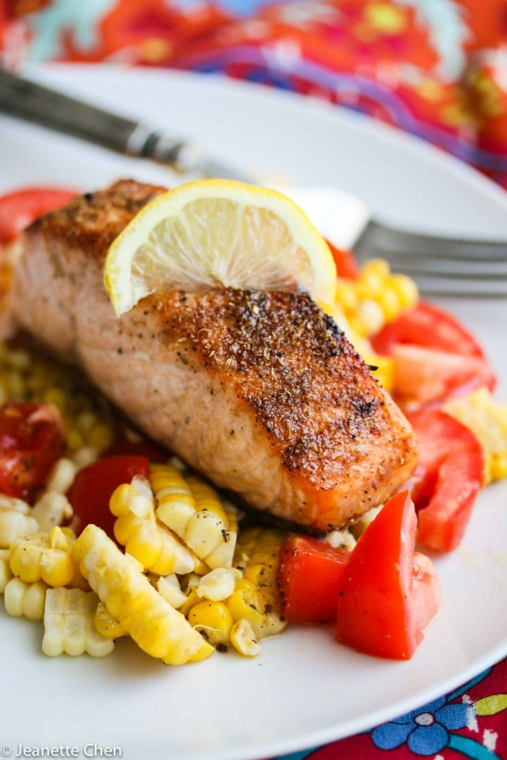 Fast Spice Rubbed Roasted Salmon