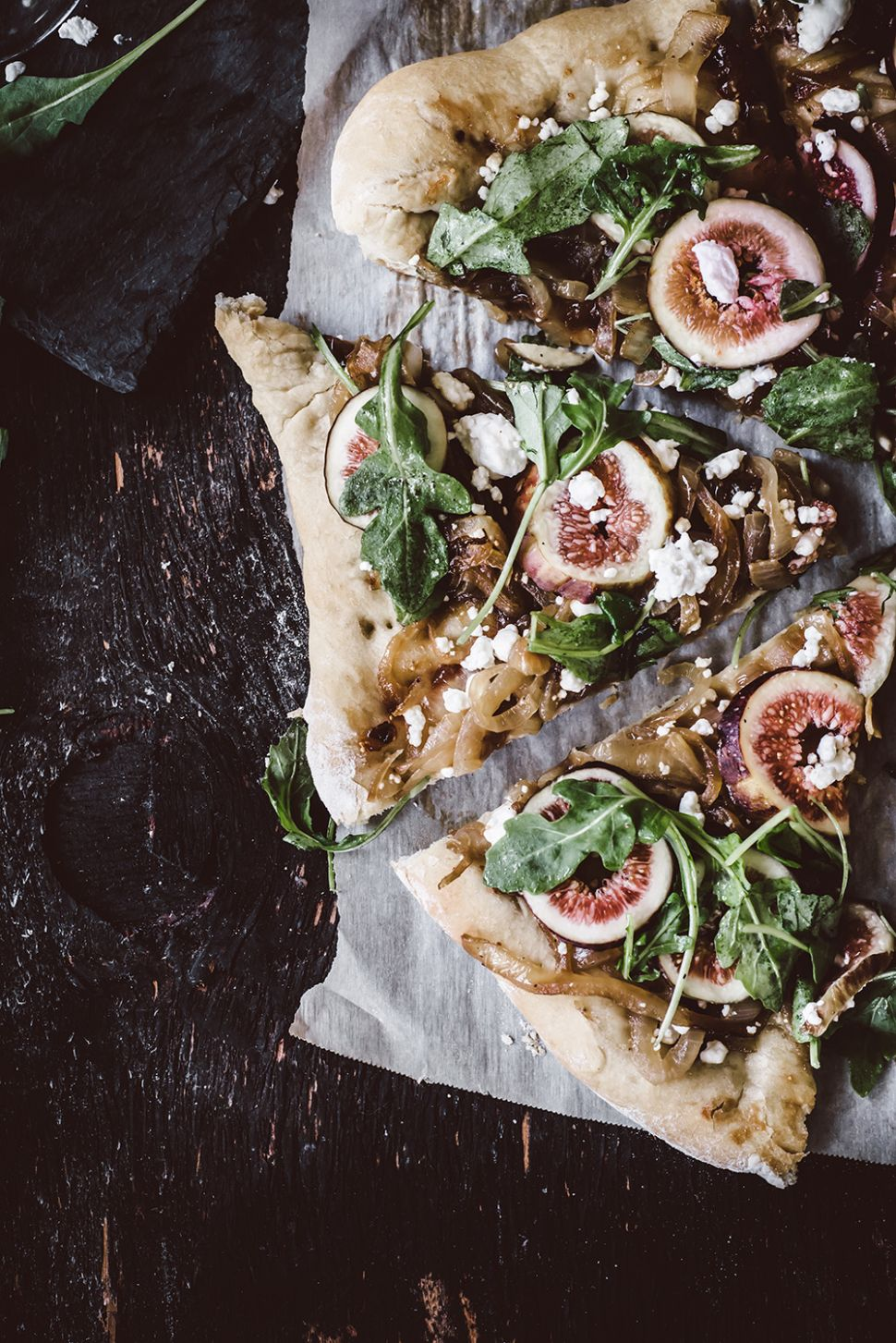 FIG AND SERRANO JAM PIZZA WITH GOAT CHEESE