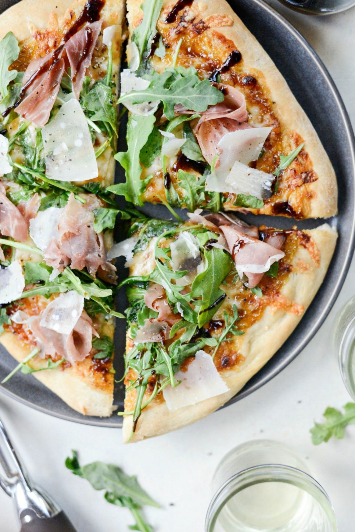 Fig Jam Prosciutto Pizza with Parmesan and Arugula - Simply Scratch - Pizza Recipes With Jam
