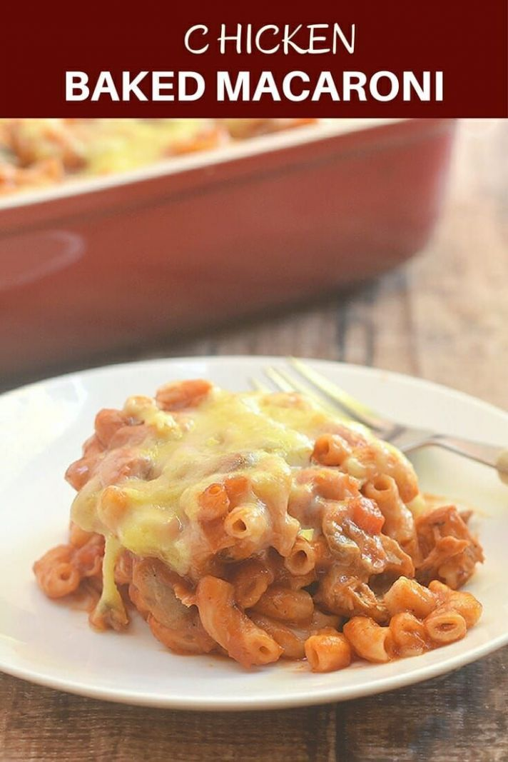 Filipino-style Chicken Baked Macaroni