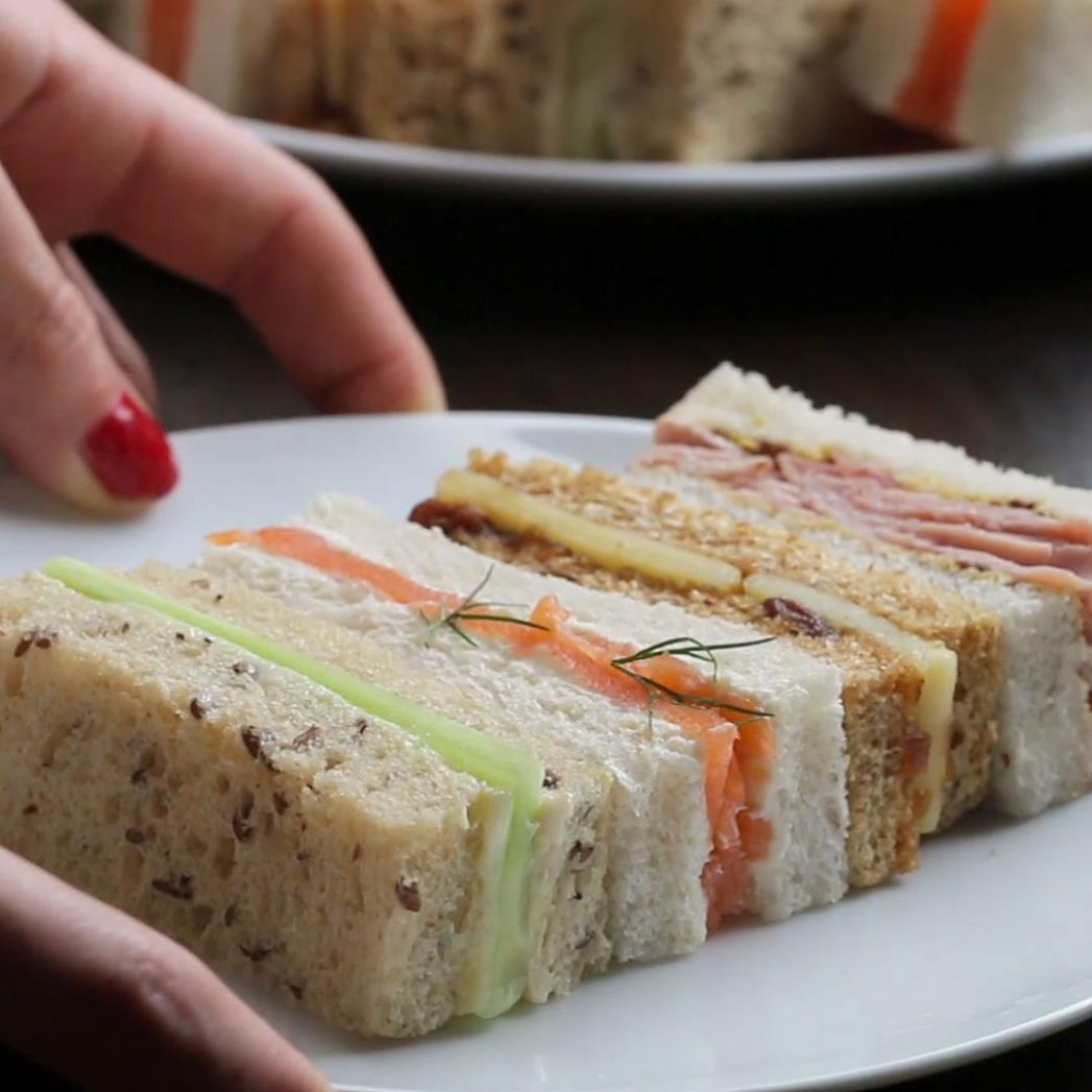 Finger Sandwiches Recipe by Tasty - Recipes Sandwich Fillings Party