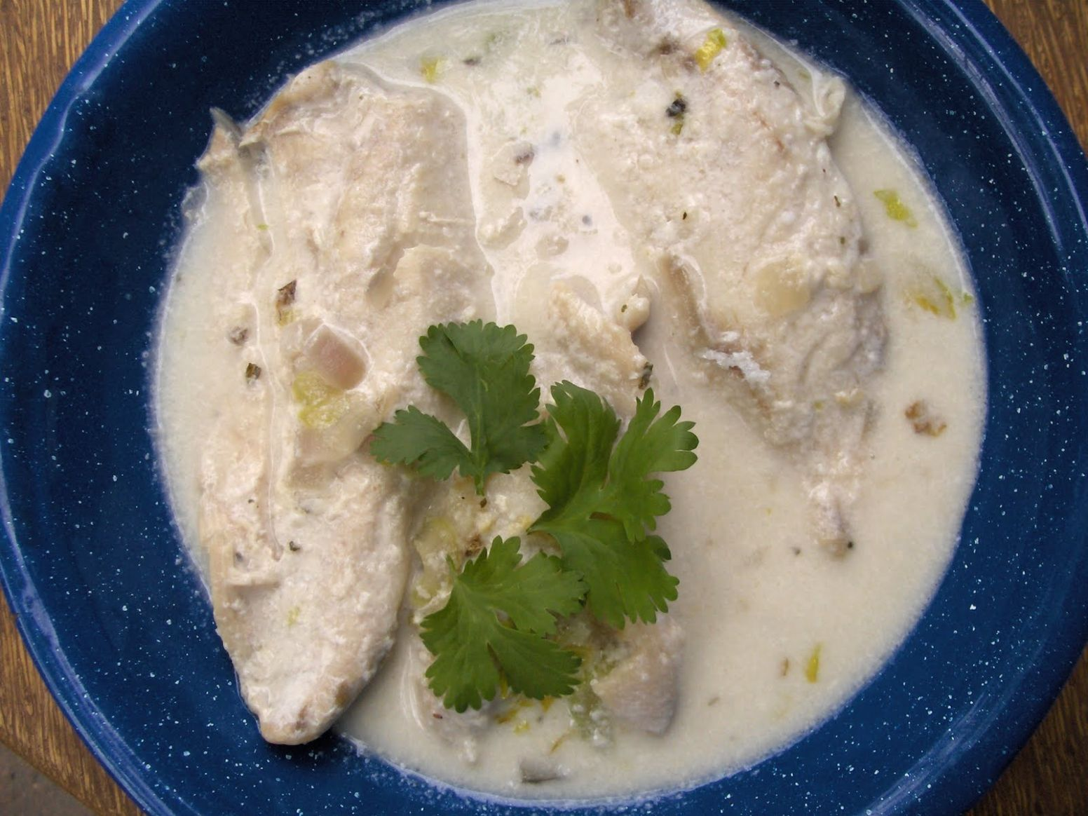 Fish fillets poached in coconut milk – Cooking in Mexico
