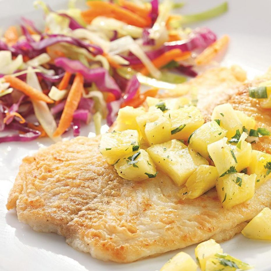 Fish Fillets with Pineapple-Jalapeno Salsa - Recipe Fish With Pineapple