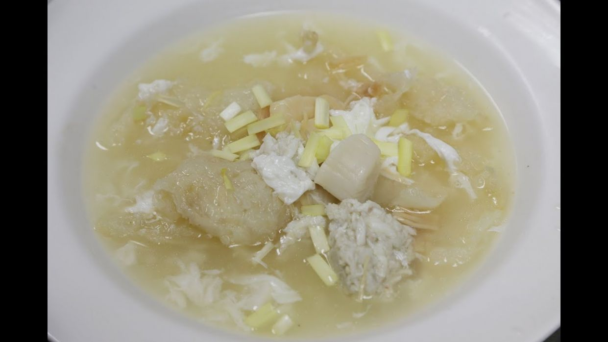 Fish Maw Soup with Crab Meat 鱼膘羹 - Recipe Fish Maw Soup