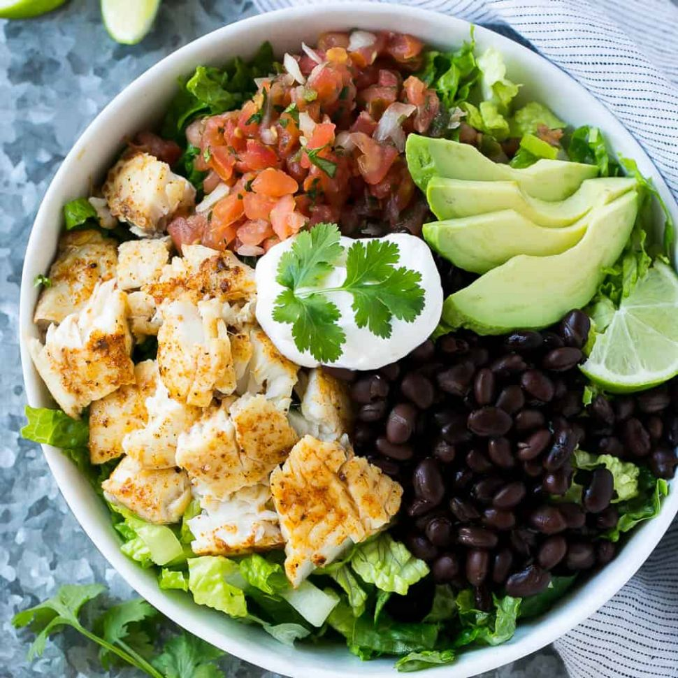 Fish Taco Salad Bowl