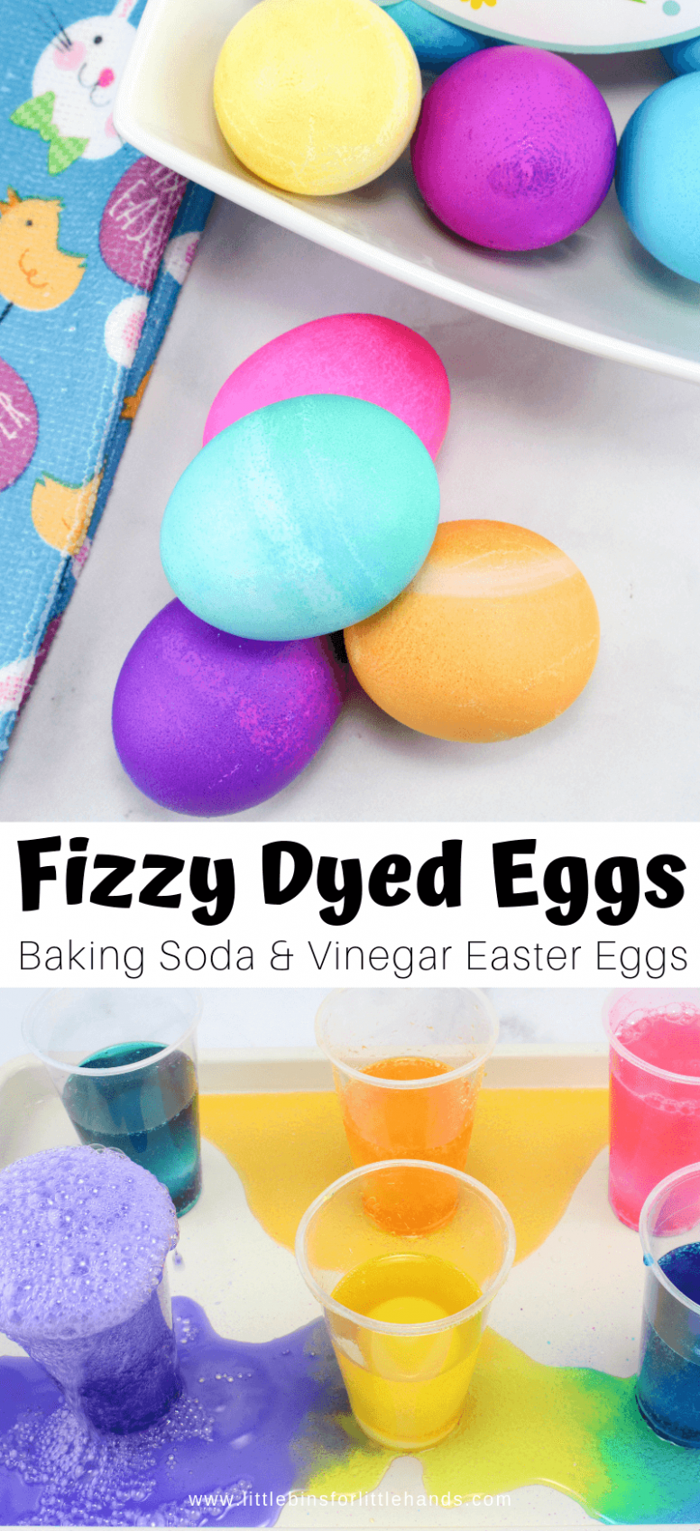 Fizzy Dyeing Easter Eggs For Kids | Little Bins for Little Hands