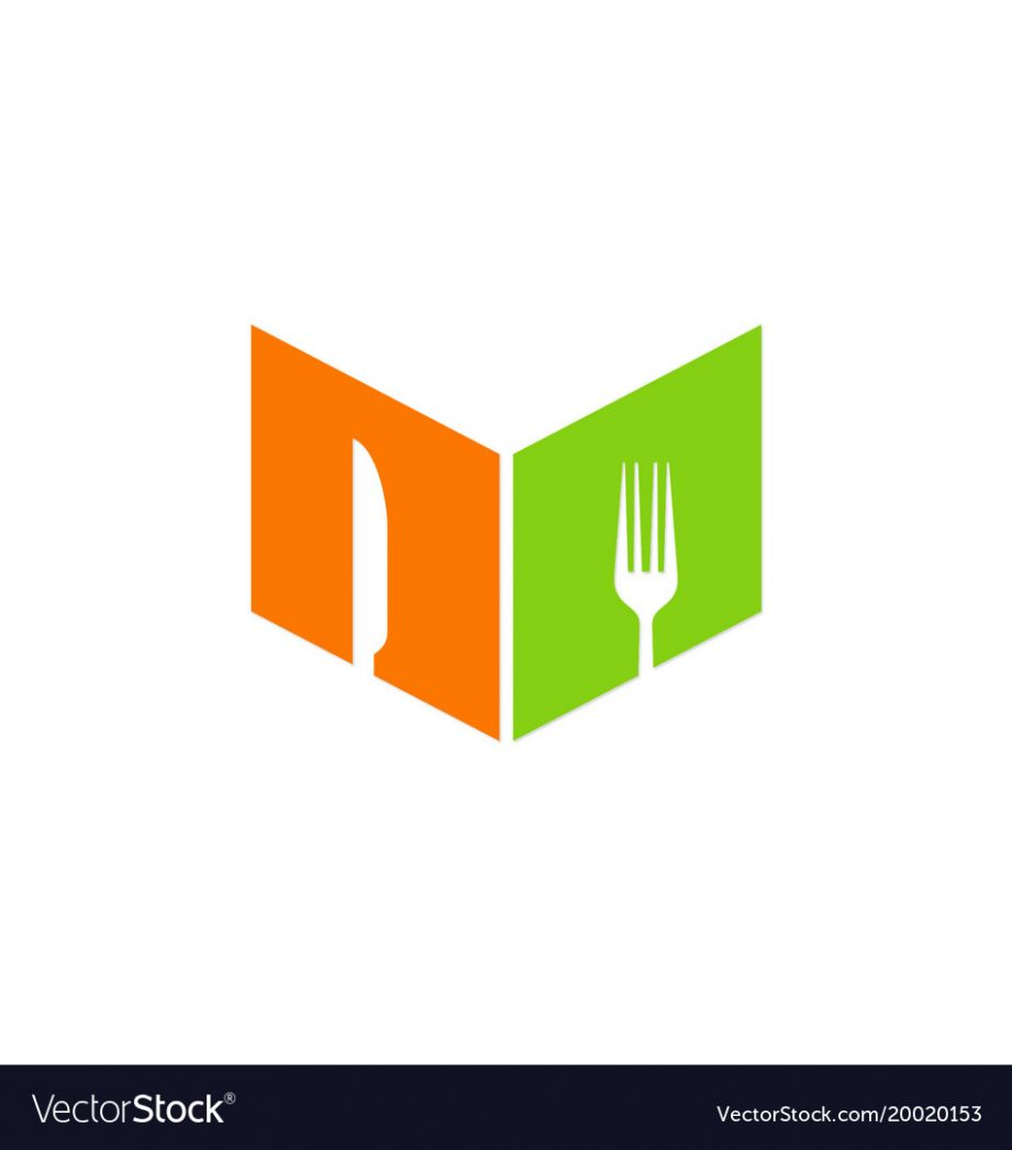 Food book recipe logo
