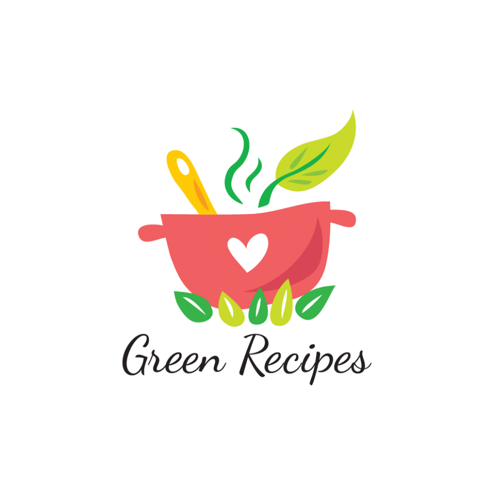 For Sale: Green Recipes Logo Design - Food Recipes Logo