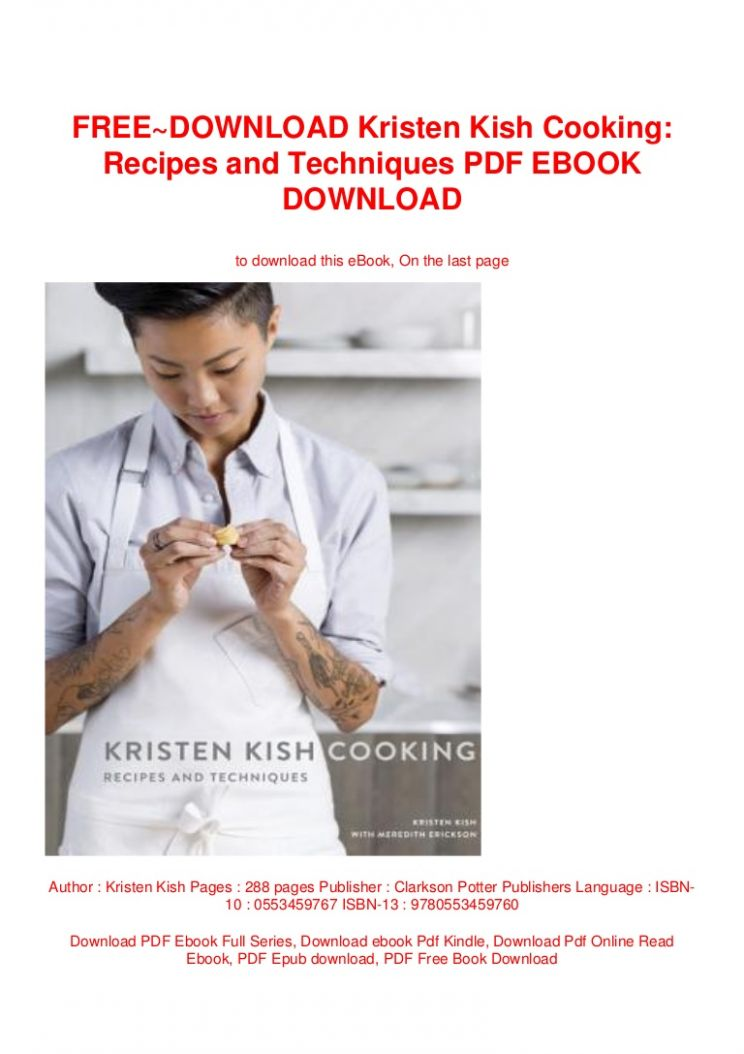 FREE~DOWNLOAD Kristen Kish Cooking: Recipes and Techniques PDF EBOOK … - Cooking Recipes Ebook Free Download