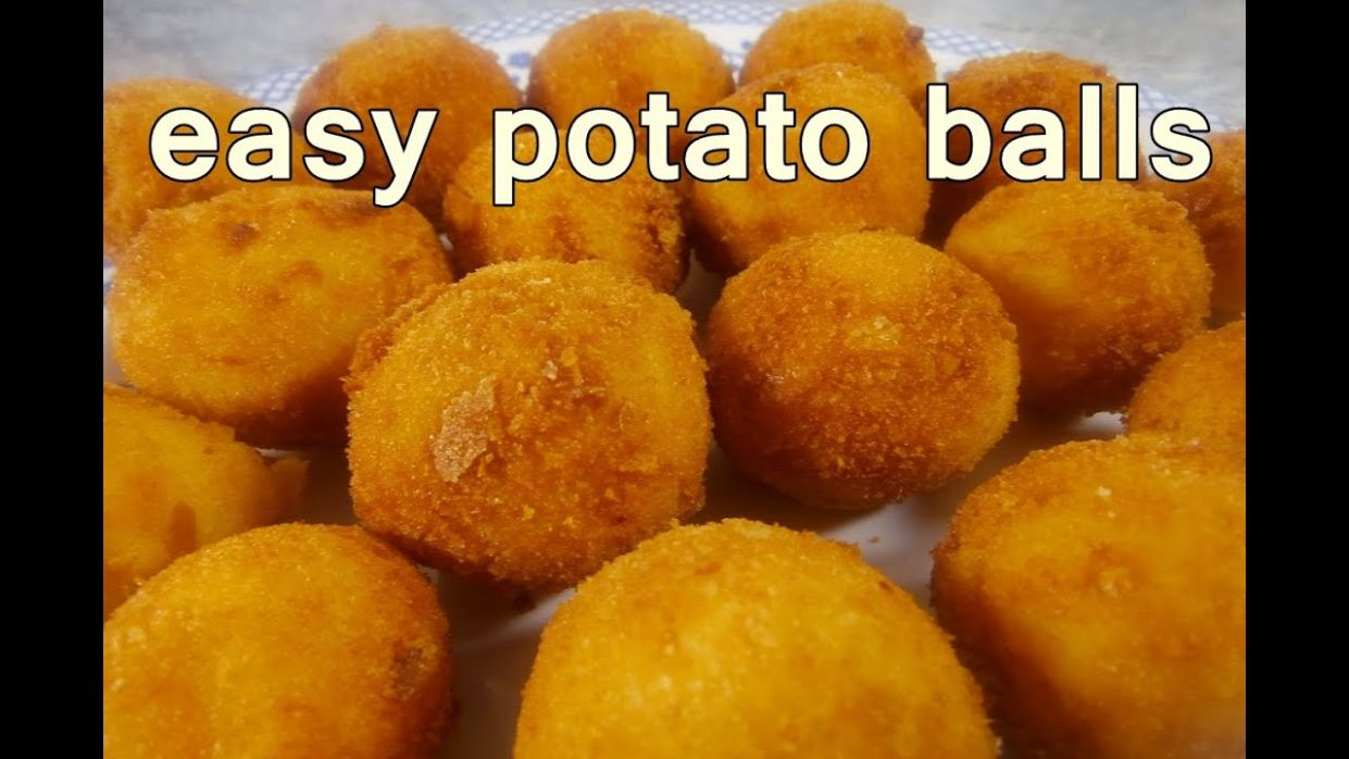 FRIED POTATO BALLS - Tasty and Easy Food Recipes For Dinner to make at home  - Cooking videos - Potato Recipes Video