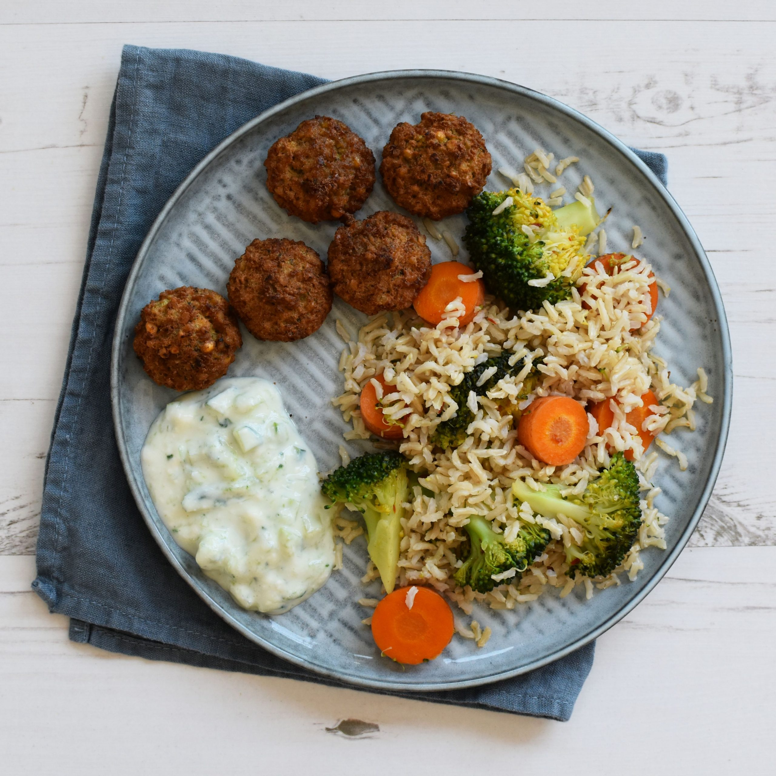 Fried Rice with Falafel: vegan dinner recipe - Anne Travel Foodie