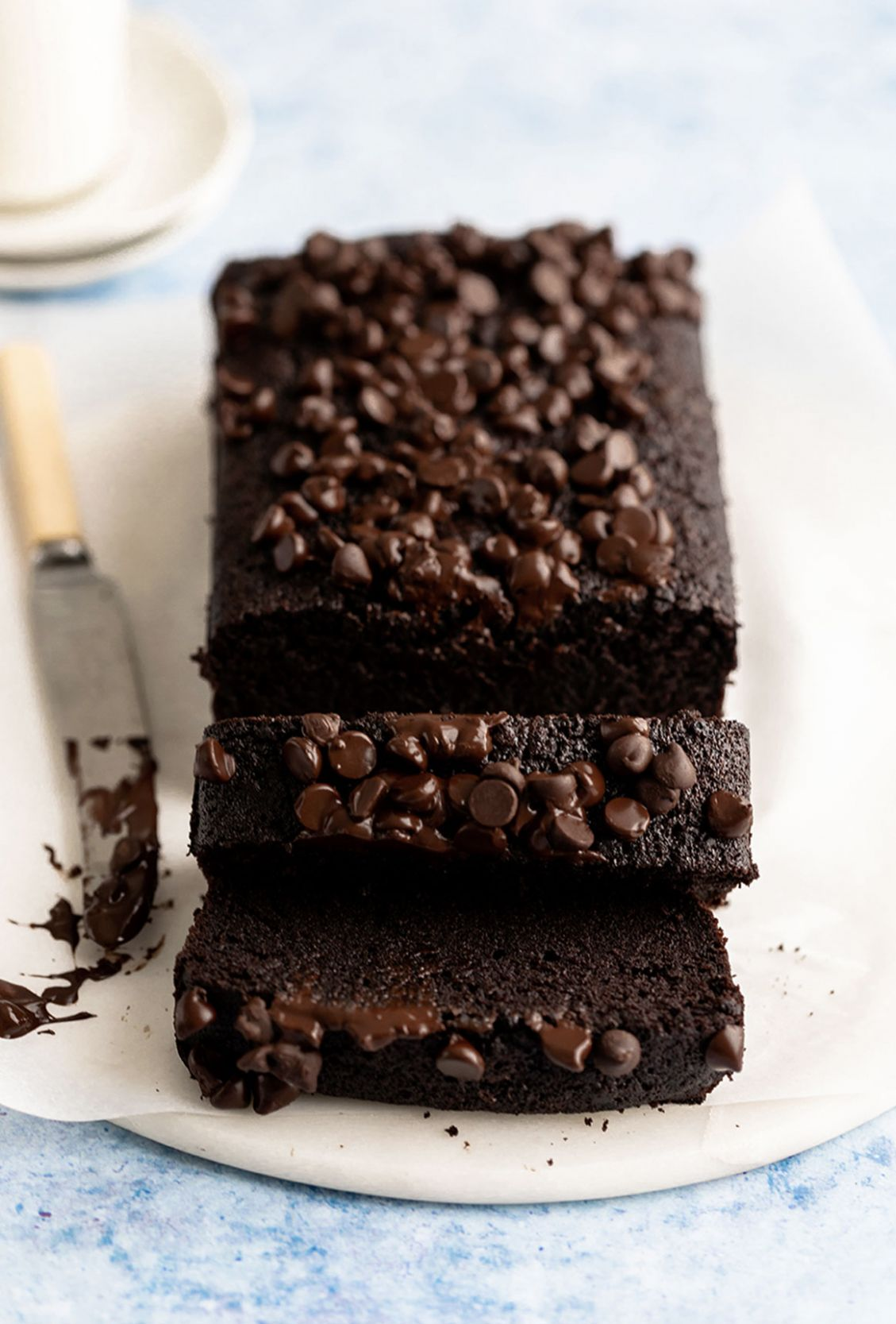 fudgy chocolate loaf cake - Yoga of Cooking