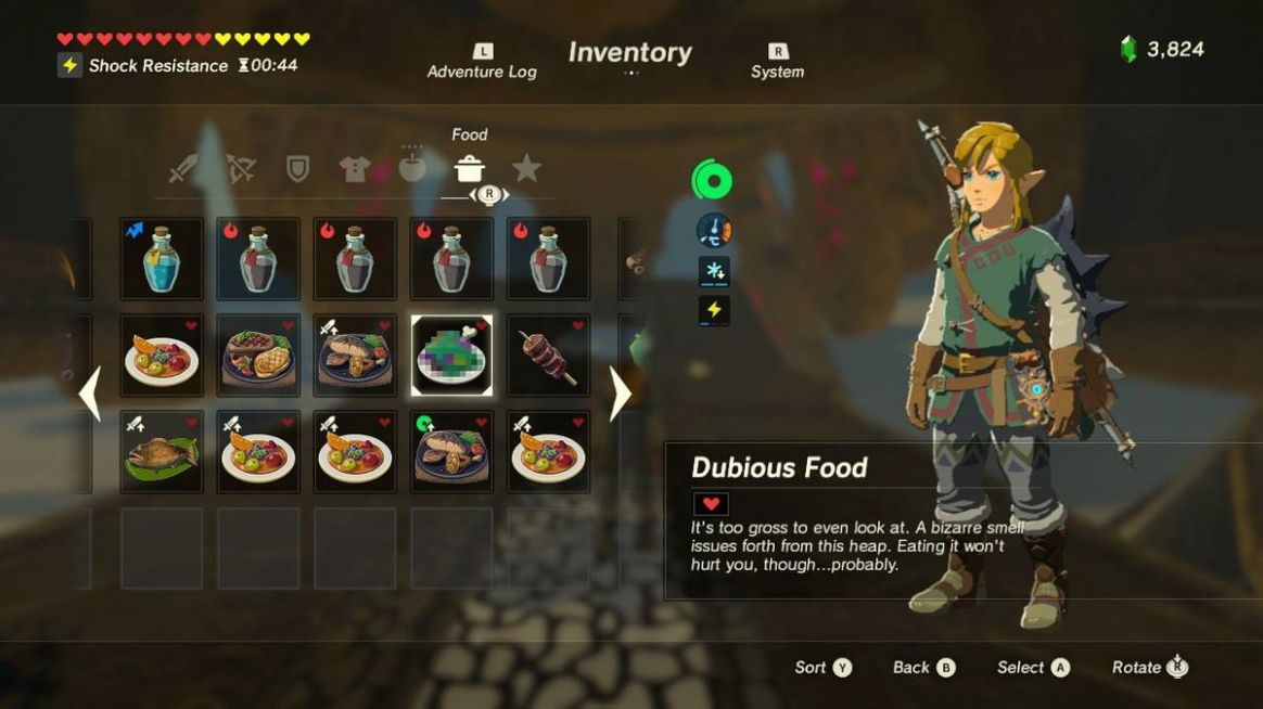 Full 'Legend of Zelda: Breath of the Wild' Recipe Book with Meals ...