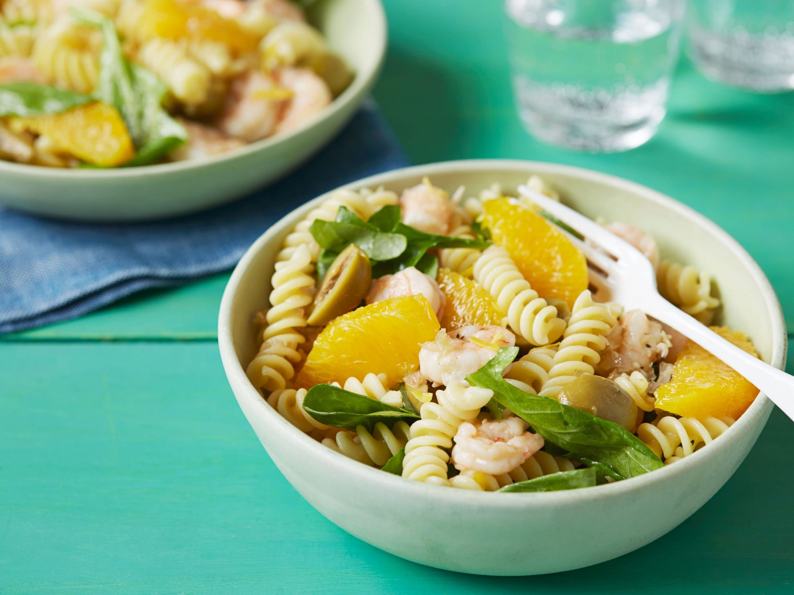 Fusilli with Shrimp, Orange and Arugula (Summer) - Summer Recipes Giada